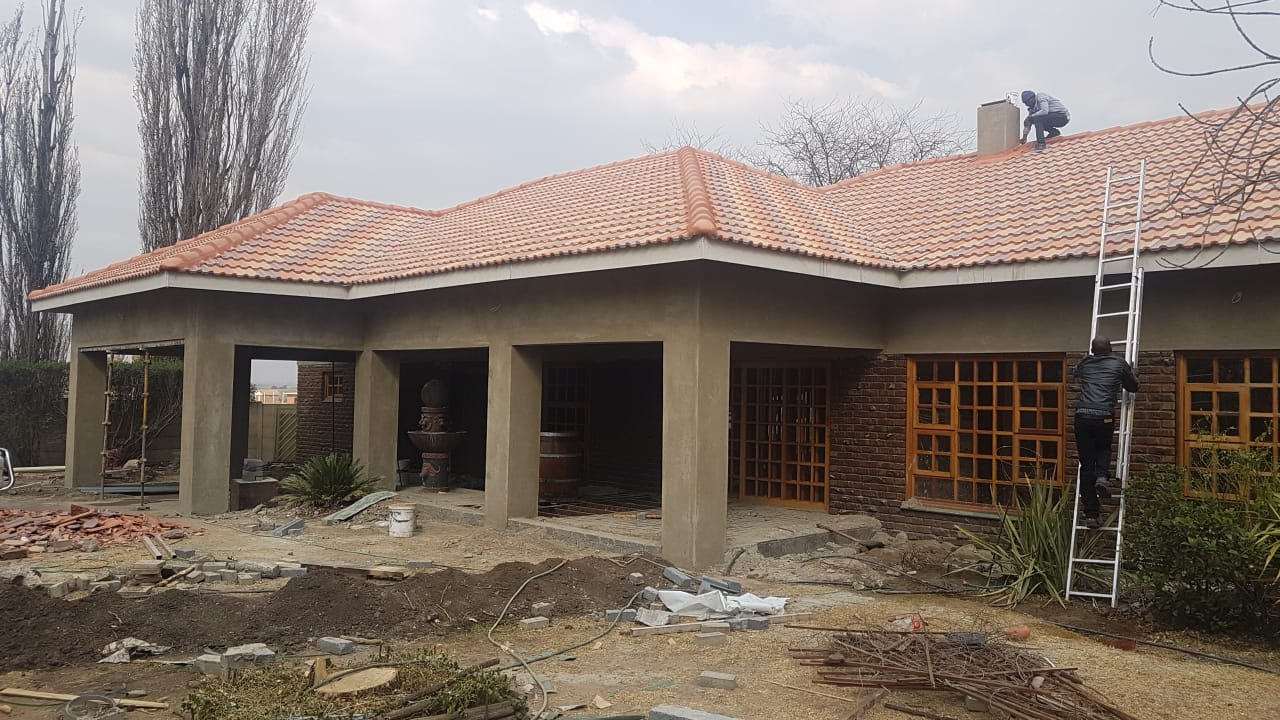 Complete Re-roof with concrete tiles,