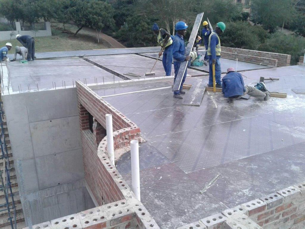 First floor slab construction