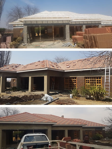 Re-roofing with concrete tiles
