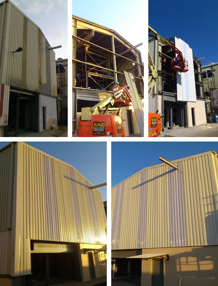 Re-roofing with sheeting Re-Sheeting cladding