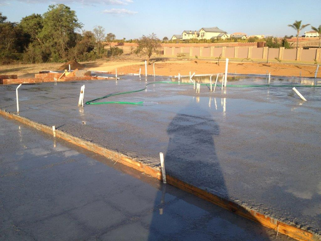 first floor concrete slab