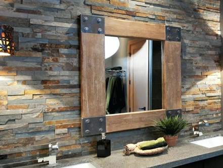 Bathroom natural stone cladding
