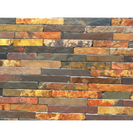 Rich Autumn Slate Riven cladding