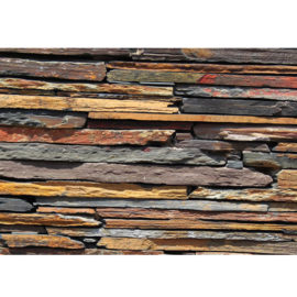 Rich Autumn Slate Strip Cladding