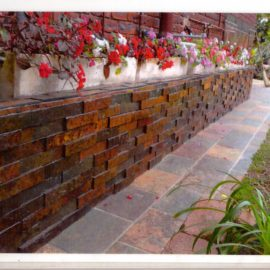 Slate Riven Cladding - Rich Autumn Slate