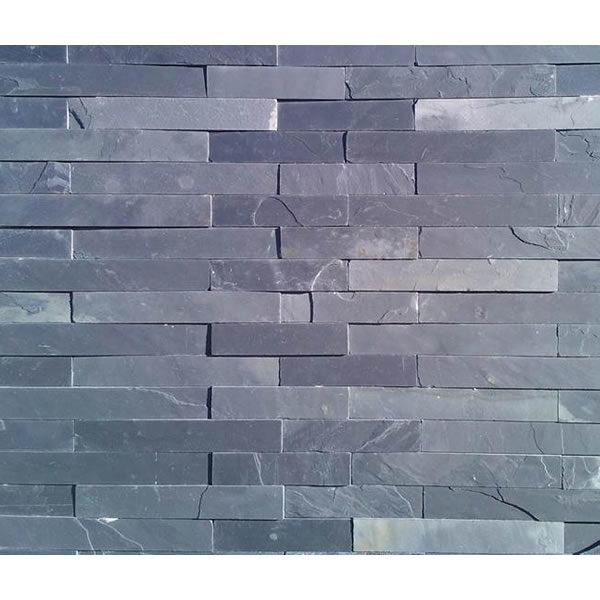 African blue slate riven cladding