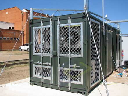 enclosed generator and cold room container conversion