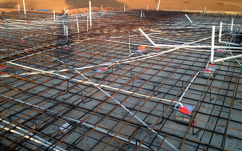 First floor concrete slab